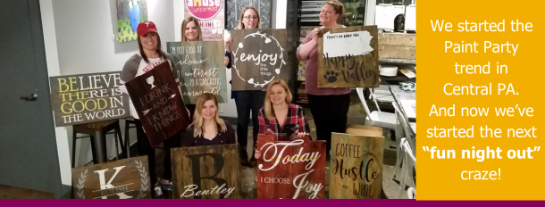 best girls night out ideas harrisburg | byob wine paint nite mechanicsburg, camp hill, carlisle, lemoyne, hershey, central pennsylvania