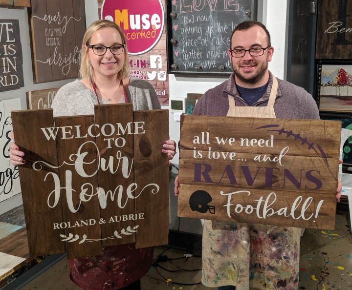 custom christmas wood signs | pallet night office christmas party ideas mechanicsburg