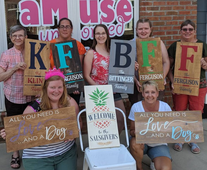 fun team building ideas 2019 mechanicsburg harrisburg | rustic wood sign class