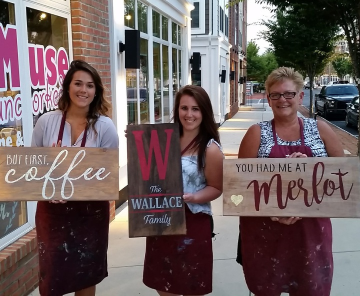 rustic wood sign class | pallet night harrisburg pallets paints mechanicsburg