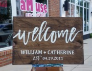 custom welcome wedding sign | rustic wedding signage | pallet sign welcome diy harrisburg mechanicsburg
