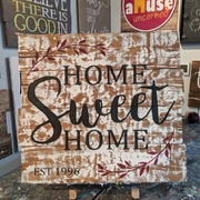 home sweet home pallet sign | wood sign class harrisburg mechanicsburg hershey carlisle | custom pallet sign