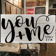 You & Me Wood Sign | Custom You Me Year DIY Pallet Sign | Mechanicsburg, Harrisburg, Carlisle, Camp Hill