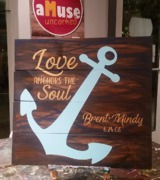 love anchors the soul | custom wedding sign rustic | barn wedding, beach wedding, nautical wedding | harrisburg