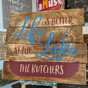 custom lake sign | life is better at the lake | rustic custom lake life pallet sign harrisburg mechanicsburg