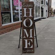 custom home porch sign | porch decor ideas | diy porch signs harrisburg mechanicsburg hershey