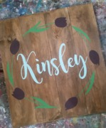 floral nursery baby girls name wooden sign | pallet paint harrisburg
