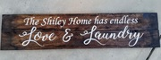 Custom Last Name Home has Endless Love and Laundry | Farmhouse Rustic Wood Sign Pallet Laundry Room