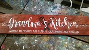 Grandma's Kitchen Rustic Wood Sign | Woodworking Workshop Harrisburg Mechanicsburg