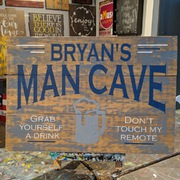 Custom Man Cave Wood Pallet Sign with Name | Man Cave Sign Mechanicsburg Harrisburg