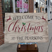 Christmas Pallet Wood Sign | Rustic Decor Christmas Decor Harrisburg | Customizable Last Name Christmas Sign