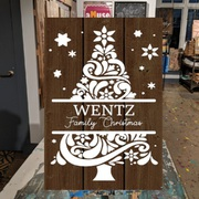 Christmas Pallet Wood Sign | Rustic Decor Christmas Decor Harrisburg | DIY Personalized Christmas Wood Sign Gift