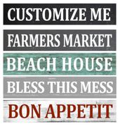 custom farmhouse signs | kitchen sign beach house sign | diy personalized wood signs