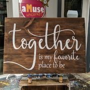 Together is my favorite place to be pallet wood sign | rustic wooden wedding sign home decor harrisburg
