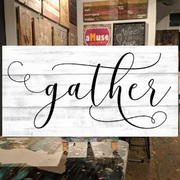 Gather Rustic Wood Sign | Gather Here Pallet Sign | Dining Room Farmhouse Signs harrisburg hershey carlisle