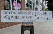 As For Me and My House We Will Serve Tacos | Wooden Pallet Sign | Kitchen Dining Rustic Wood Sign