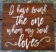 i have found the one whom my soul loves rustic wood sign | pallet wedding signs harrisburg mechanicsburg carlisle