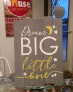 Dream Big Nursery Boy Girl Rustic Wood Sign | Woodworking Class Workshop Harrisburg Mechanicsburg