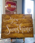 You are My Sunshine Rustic Wood Pallet Nursery Sign | Woodwork Class Harrisburg Mechanicsburg