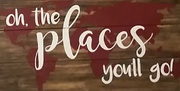 Oh the places you'll go Rustic Wood Pallet Sign | Wooden Nursery Sign Rustic Travel Decor Harrisburg Mechanicsburg