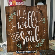 It Is Well With My Soul Pallet Wood Sign | Rustic Wooden Sign It Is Well | Inspirational Wood Sign Bible Verse