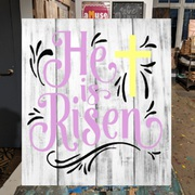 he is rise easter wood sign | easter decor wall art pallet sign harrisburg mechanicsburg camp hill carlisle hershey pennsylvania
