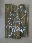 let love grow pallet sign | gardening wood sign watering can | pallet night mechanicsburg