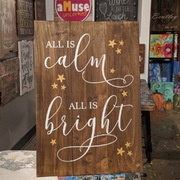 All is Calm All is Bright Pallet Wood Sign | Rustic Sign Christmas Decor | DIY Christmas Pallet Sign Mechanicsburg Harrisburg Carlisle