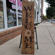 Autumn Fall Welcome Porch Greeter Wood Sign | Sunflower Welcome Wood Sign Welcome | Autumn Pallet Porch Decor | Mechanicsburg Harrisburg