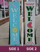 Spring Summer Welcome Porch Wood Sign | Spring Wood Sign Welcome | Summer Pallet Porch Sign | Dragonflies Watermelon Harrisburg