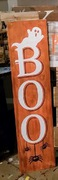 Halloween Porch Greeter | Boo Ghost Rustic Wood Porch Sign Entry | Cute Halloween Decor Harrisburg