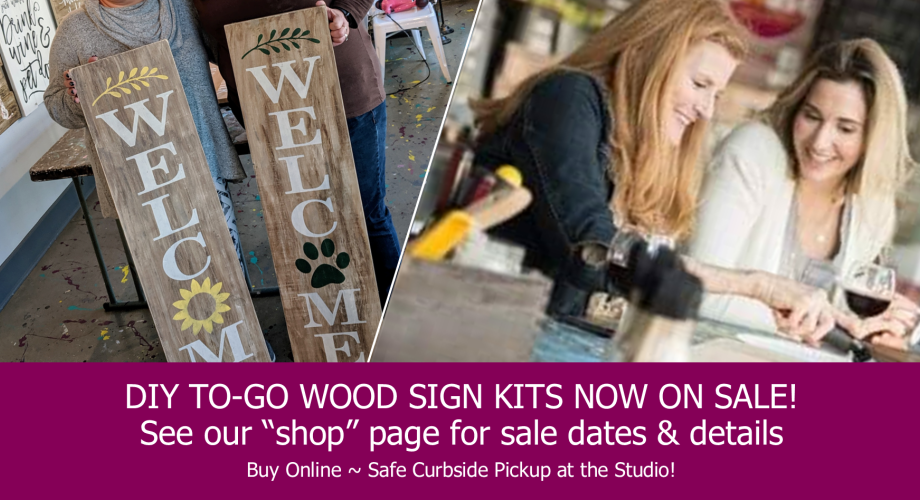 wood sign workshop night out | rustic pallet paint class | harrisburg mechanicsburg central pennsylvania