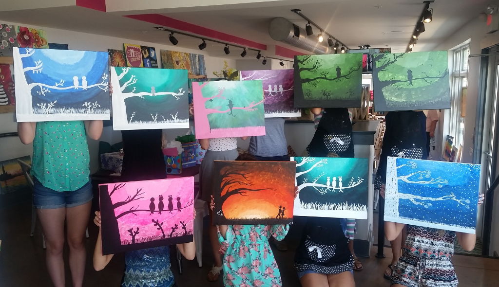 teen birthday party ideas harrisburg mechanicsburg | art party, paint night for teenagers