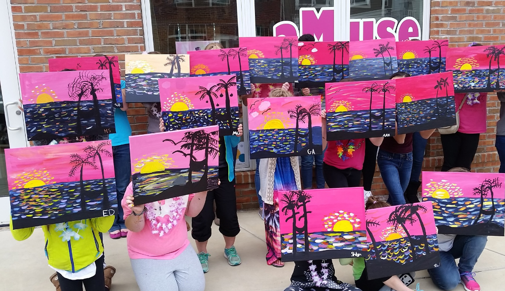 kids birthday party ideas harrisburg mechanicsburg | art party, kids paint night
