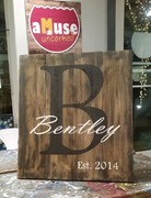 DIY Custom Last Name Initial Rustic Wood Sign | Woodworking Workshop Harrisburg Mechanicsburg