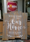 Custom Welcome Rustic Wood Sign | Woodworking Workshop Harrisburg Mechanicsburg