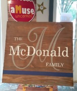 Thin Blue Line Custom Police Family Wooden Sign | rustic wood sign with last name police, military, firefighters, emt, nurses
