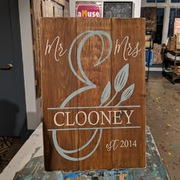 Mr & Mrs Rustic Wood Sign for Wedding | Custom Last Name Est Year Barn Wedding Decor Mechanicsburg