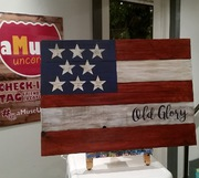 Rustic USA Flag Patriotic Pallet Wood Sign | DIY Wood Workshop Harrisburg Mechanicsburg