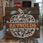 DIY Fall Wood Sign | Pumpkin Pallet Sign | Rustic Fall Decor Pumpkin Customizable Family Last Name Mechanicsburg #1