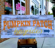 Custom Pallet Fall Wood Sign | Rustic Decor Pumpkin Patch Hayrides | Last Name Farm