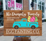 easter wood sign harrisburg mechanicsburg diy | easter pallet sign easter egg painting company custom | cute easter decor