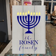hanukkah wood sign | hanukkah decor wall art pallet sign custom last name | mechanicsburg harrisburg