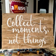 Collect Moments Not Things Pallet Wood Sign | Rustic Wooden Sign Famous Quotes Harrisburg Mechanicsburg