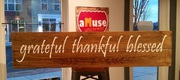 Grateful Thankful Blessed Rustic Wood Sign | Woodworking Class Workshop Harrisburg Mechanicsburg