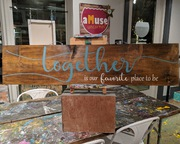Together is our favorite place to be rustic wood sign | board brush mechanicsburg pa