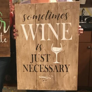 Sometimes Wine is Just Necessary Pallet Sign | DIY Pallet Paint Nights Harrisburg | Best Girls Night Out Ideas