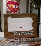 Pennsylvania Home Rustic Wood Sign | Woodworking Workshop Harrisburg Mechanicsburg