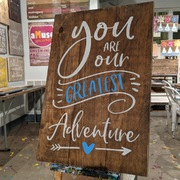 nursery room decor pallet sign | you are our greatest adventure | girl boy nursery custom pallet night sign mechanicsburg harrisburg carlisle hershey