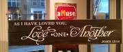 Love One Another John 13:14 Rustic Wood Sign | Woodworking Class Workshop Harrisburg Mechanicsburg